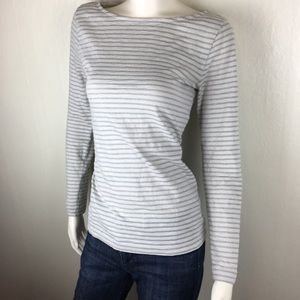 J. Crew Artist Tee with Silver Stripes